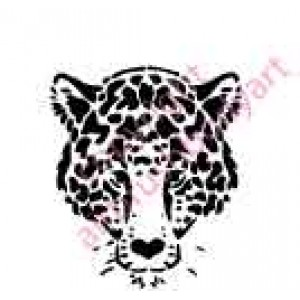 0007 leopard re-usable stencil