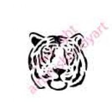 0008 tiger head re-usable stencil