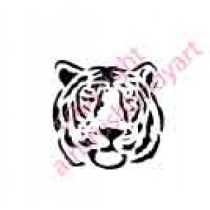0008 tiger head re-usable stencil
