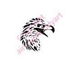 0010 eagle head re-usable stencil