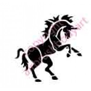 0011 unicorn re-usable stencil