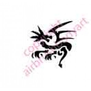0021 dragon re-usable stencil