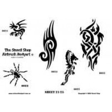 0021-0025 stencils