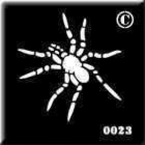 0023 spider re-usable stencil
