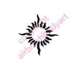 0027 sun belly button re-usable stencil