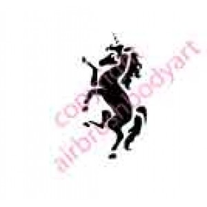 0036 unicorn re-usable stencil