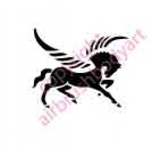 0037 pegasus re-usable stencil