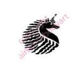 0038 unicorn re-usable stencil