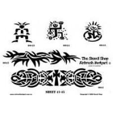 0041-0045 stencils