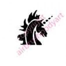 0054 unicorn re-usable stencil