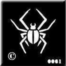 0061 spider re-usable stencil