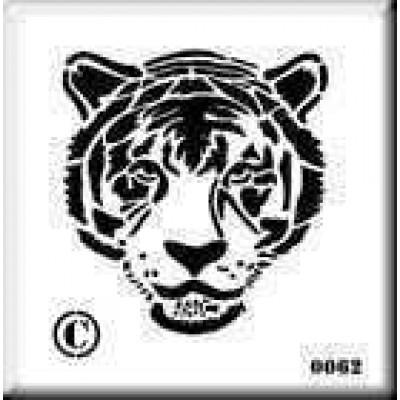 0062 tiger reusable stencil
