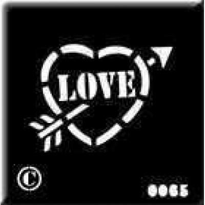 0065 reusable love heart stencil