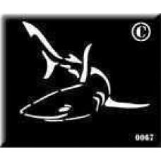 0067 reusable shark stencil