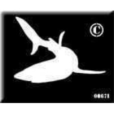 0067b reusable shark stencil backing
