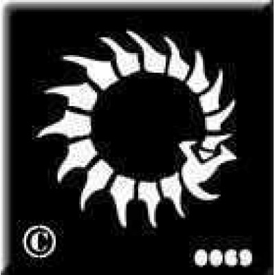 0069 reusable belly button stencil