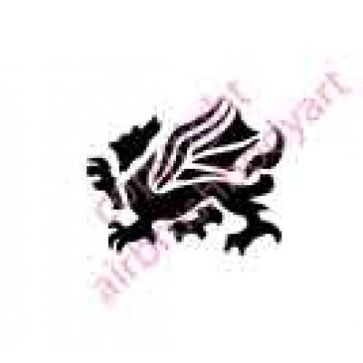 0090 dragon re-usable stencil