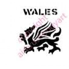 0090a dragon wales re-usable stencil