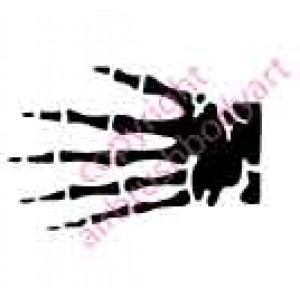0098 skeleton hand re-usable stencil