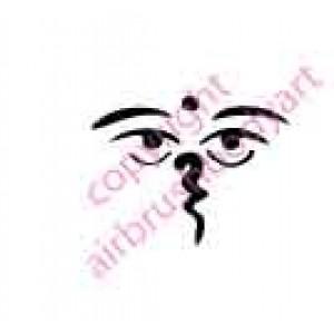 0101 shiva eyes re-usable stencil