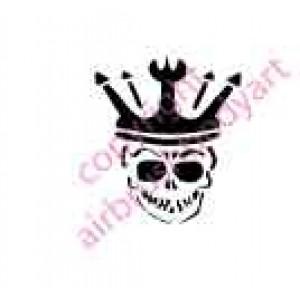 0107 skull king re-usable stencil