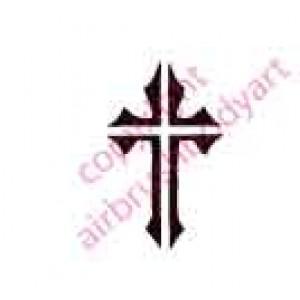 0108 cross re-usable stencil