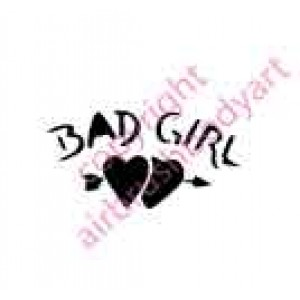 0110 bad girl re-usable stencil