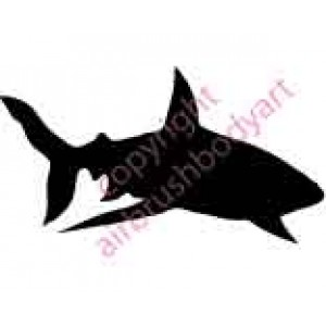 0115b shark backing re-usable stencil