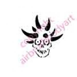 0117 skull re-usable stencil