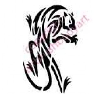 0119 panther re-usable stencil