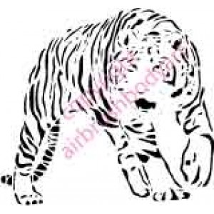 0125 tiger standing re-usable stencil