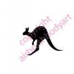 0126 kangeroo small re-usable stencil