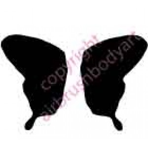 0128b butterfly backing re-usable stencil