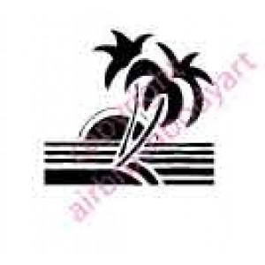 0131 Island dream small re-usable stencil