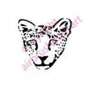 0132 cheetah re-usable stencil