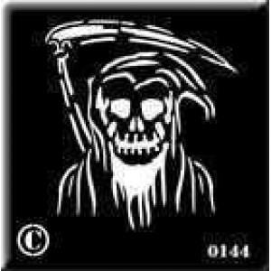 0144 reusable grim reaper stencil