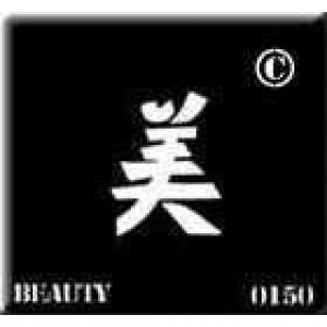0150 reusable kanji / chinese writing beauty stencil