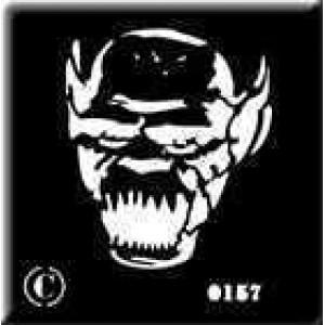 0157 reusable monster face stencil
