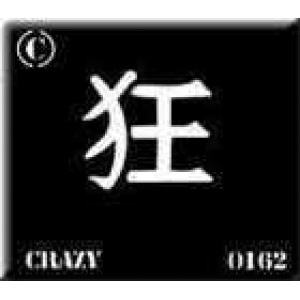 0162 reusable kanji /chinese writing crazy stencil