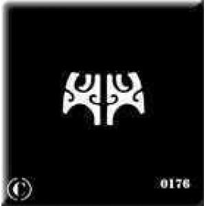 0176 reusable maori female stencil
