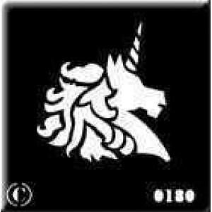 0180 reusable unicorn stencil