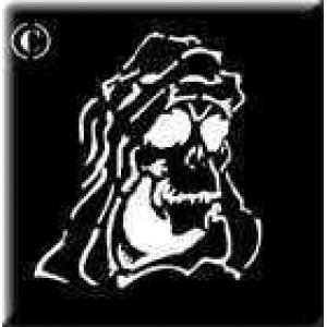 0182 reusable grim reaper stencil
