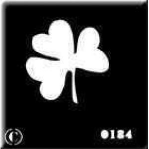 0184 reusable clover stencil