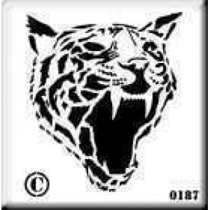 0187 reusable tiger stencil