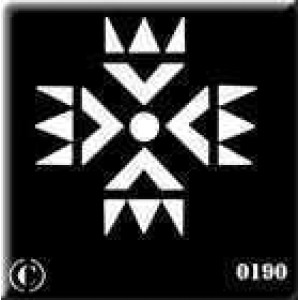 0190 reusable indian stencil