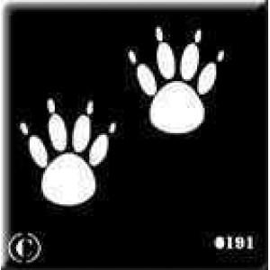 0191 reusable paws stencil