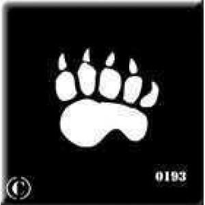 0193 reusable paw stencil