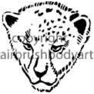 0201 lion cub re-usable stencil
