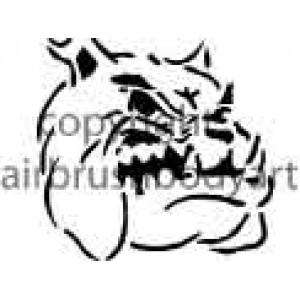 0203 bulldog re-usable stencil