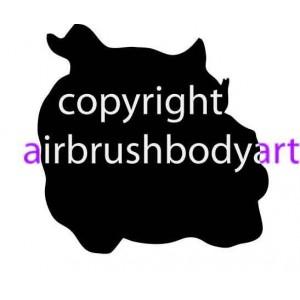 0203b bulldog backing re-usable stencil